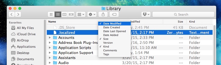 Sort files by date on the Mac