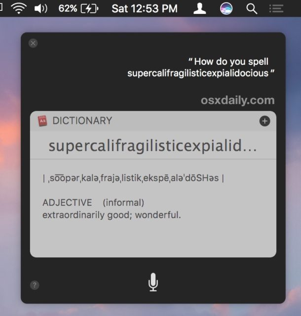 Have Siri spell words for you