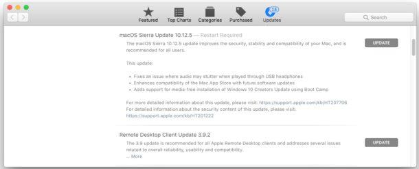 MacOS 10.12.5