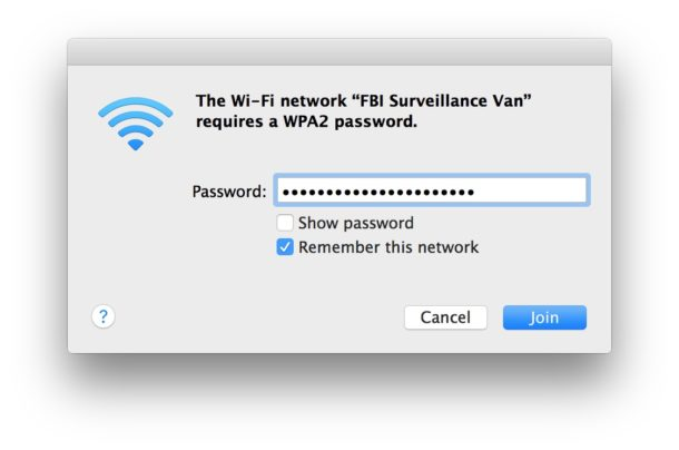 See Wi-Fi Password as typing on a Mac