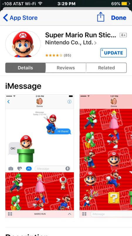 Finding where an iMessage sticker came from in iOS Messages