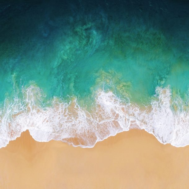 Get the gorgeous iOS 11 default wallpaper beach scene