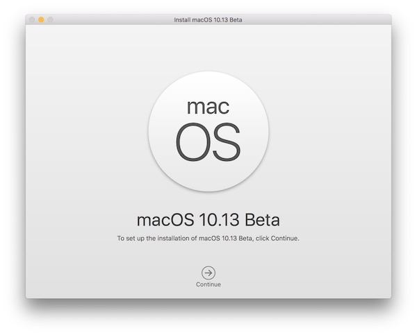 Install macOS High Sierra beta via USB installer