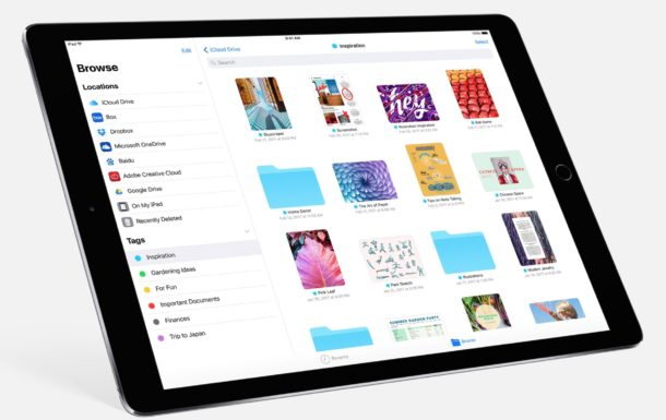 iOS 11 iPad files app