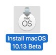 MacOS High Sierra installer
