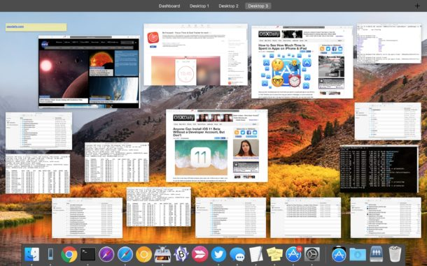 See all open windows on a Mac with Mission Control