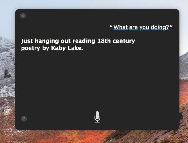 Siri improvements in High Sierra