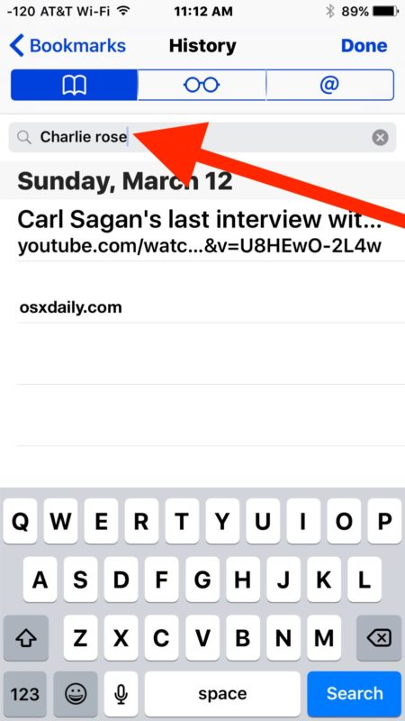 Search Safari browser history on iPhone and iPad