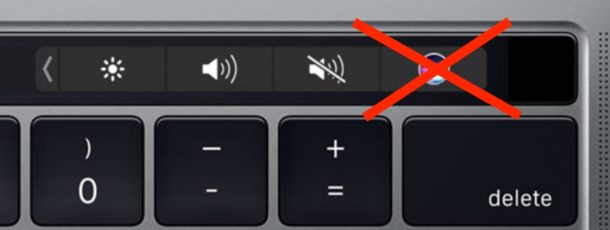 Remove Siri from Touch Bar on Mac