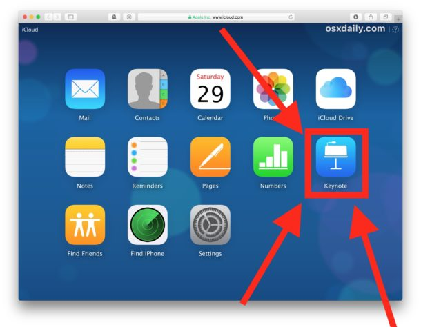 Convert a keynote file to Powerpoint on iCloud