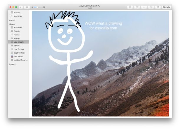 How to draw on pictures in Photos for Mac with Markup