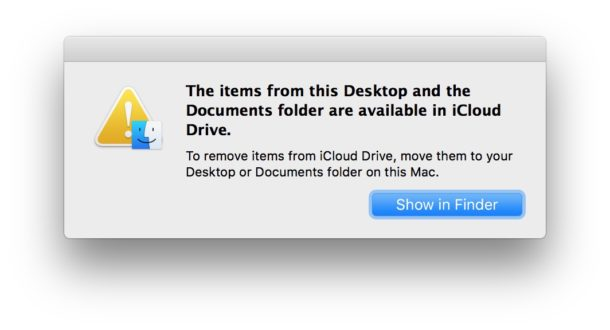 iCloud desktop and documents