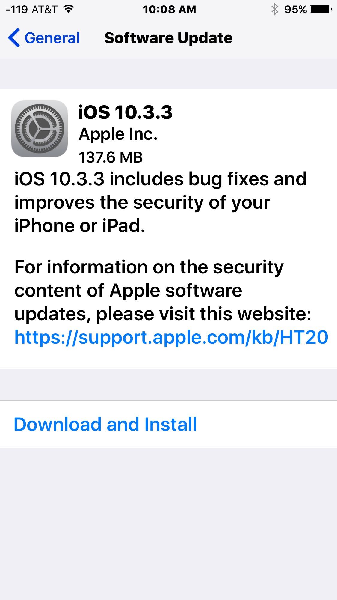 Ios 10 3 3 Update Released For Iphone Ipad Ipsw Download Links Osxdaily