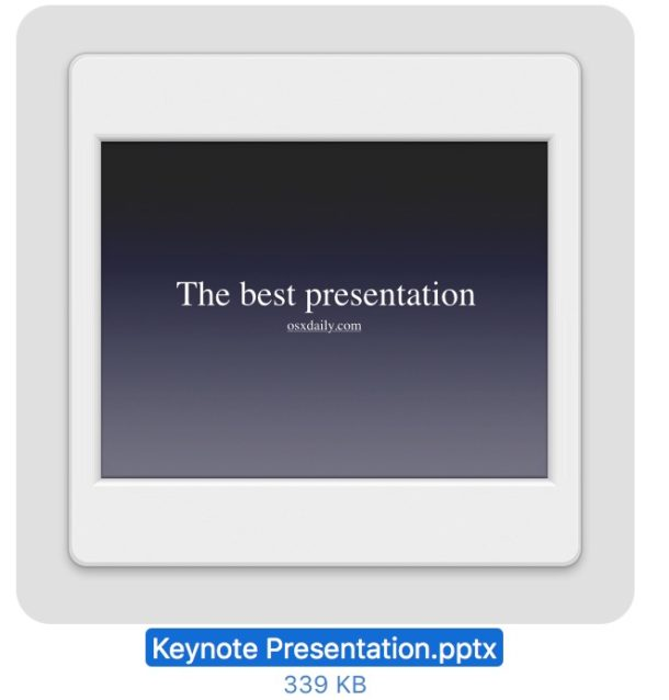 Converted a keynote key file to Powerpoint pptx