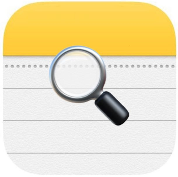 Search in Notes on iPhone and iPad