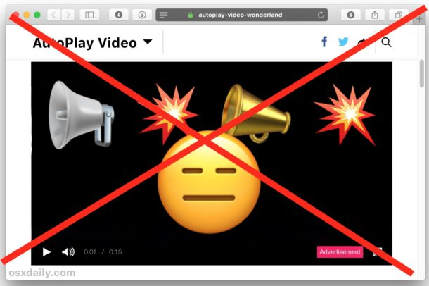 Stop autoplaying video in Safari on Mac