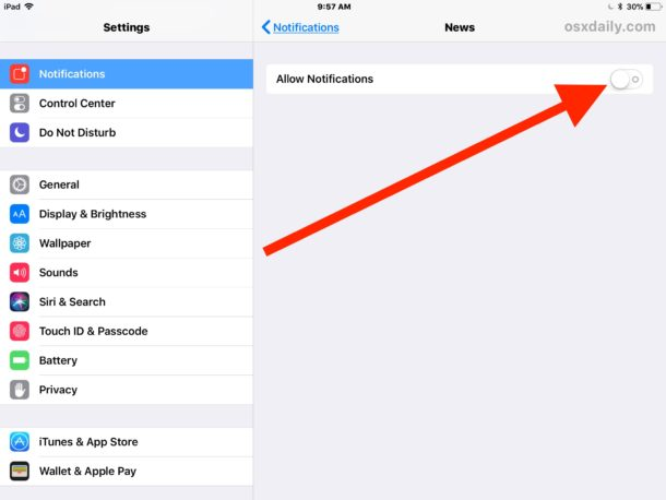 Hide ALL Notifications and alerts from News on iOS