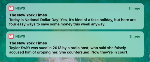 Hide breaking news alerts from the iOS screen