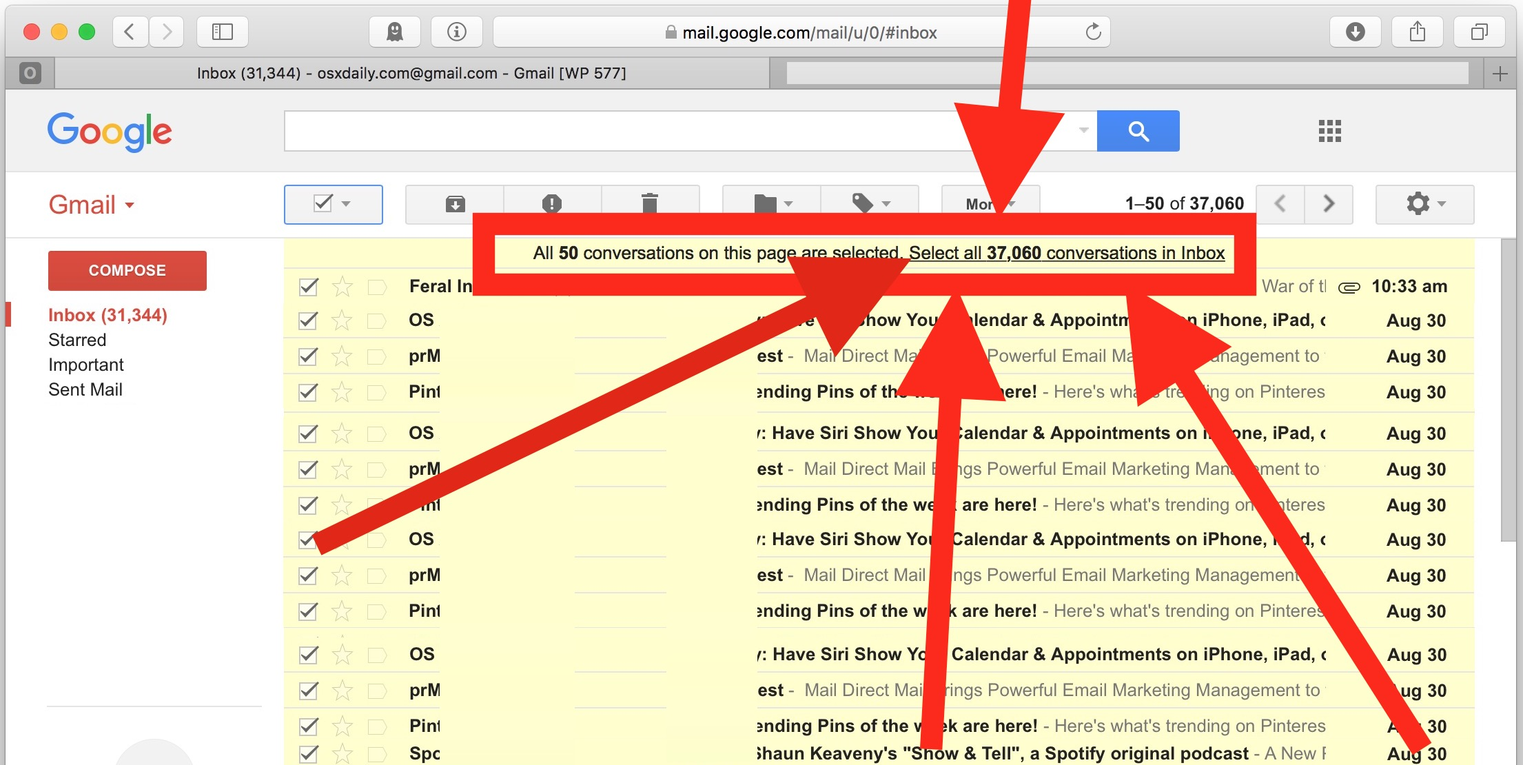 How to delete ALL Gmail emails from Google mail account