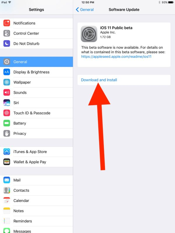 Download and install the iOS 11 beta profile