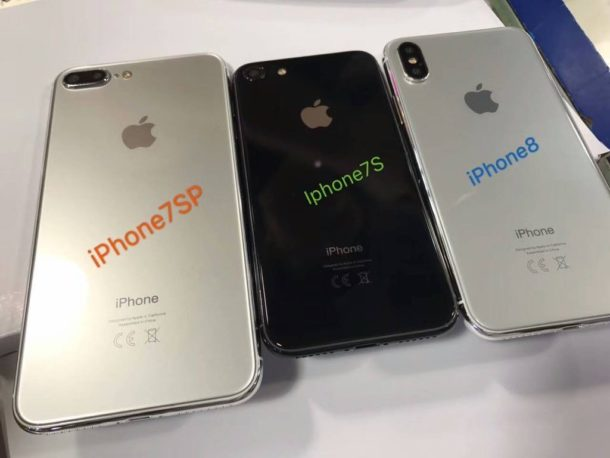 Dummy units of iPhone 8 with iPhone 7S and iPhone 7s plus