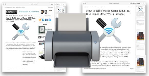 Print an article or webpage without ads from Mac