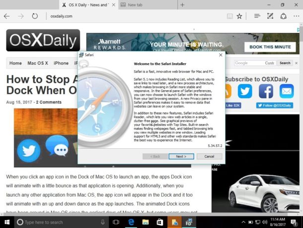 Install Safari for Windows