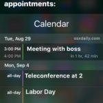 What's on my calendar Siri