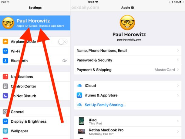 Accessing iCloud Settings on iPad in iOS