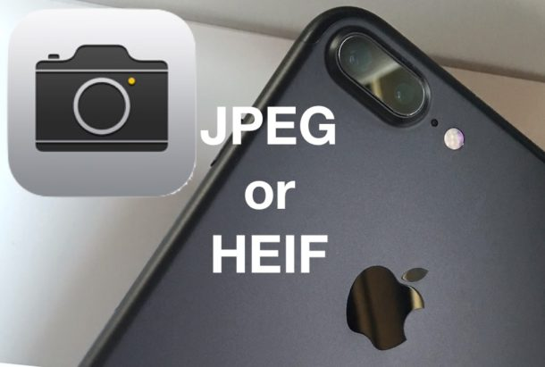 How to change iPhone Camera image format to JPEG from HEIF
