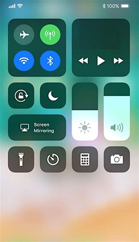 Control Center in iOS 11