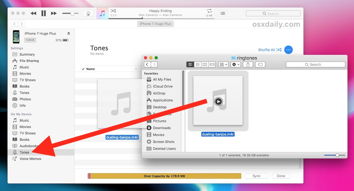 how to download a ringtone from my computer to iphone