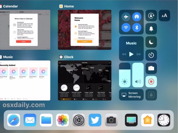 How to force quit apps on iPad with iOS 11