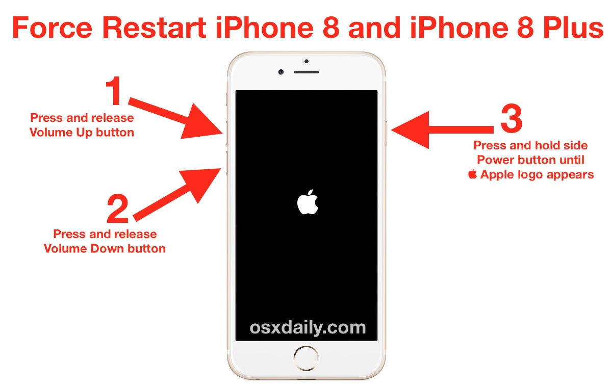 how to factory reset iphone 6 plus how to restart iphone 8 and iphone 8 plus 6697