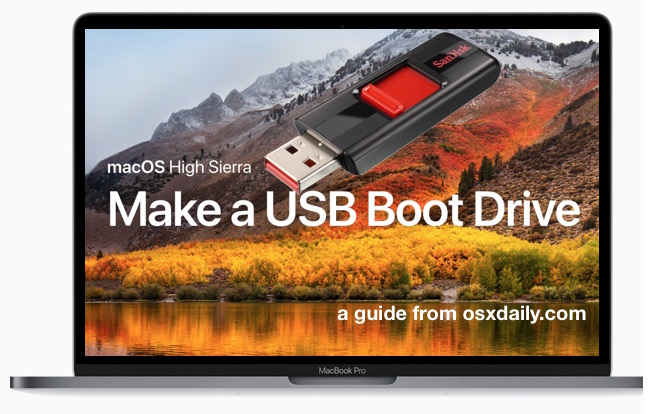 How to make a macOS High Sierra USB boot installer drive