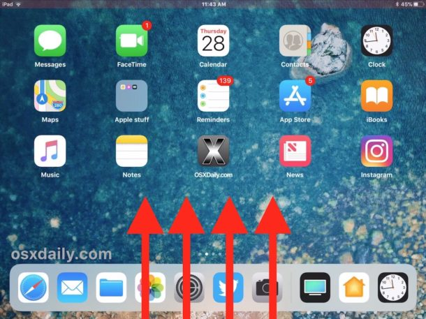 Access the App Switcher on iOS for iPad