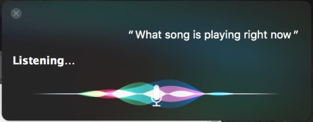 Identify what song is playing on Mac with Siri