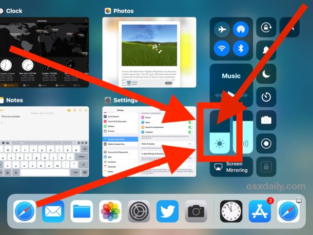 Tap and hold on Brightness setting to reveal Night Shift in iOS 11