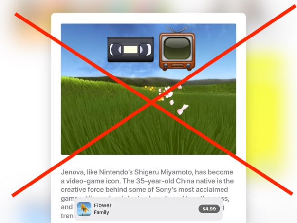 Disable autoplaying video in the App Store of iOS