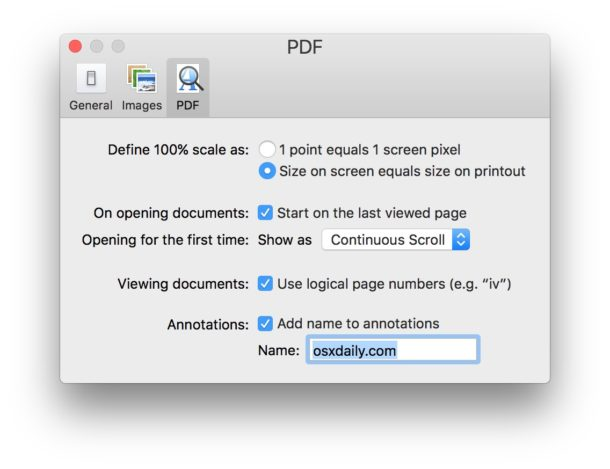 Changing the annotation name in Preview for Mac
