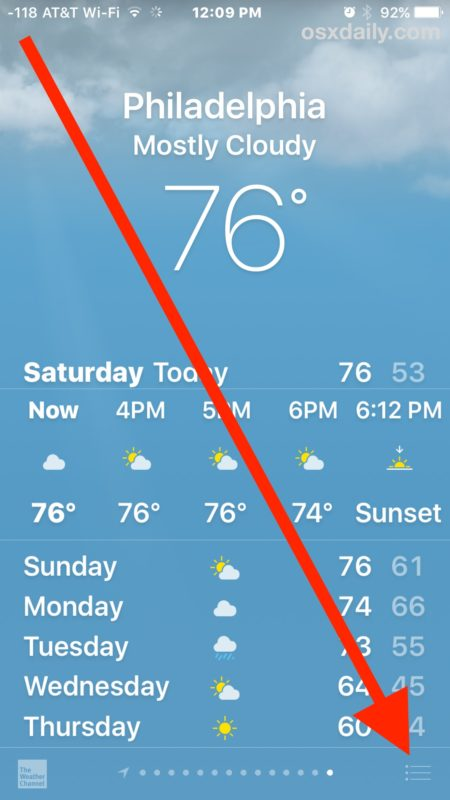 How to change weather degrees in iPhone Weather app