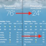 Change Weather on iPhone from Fahrenheit to Celsius