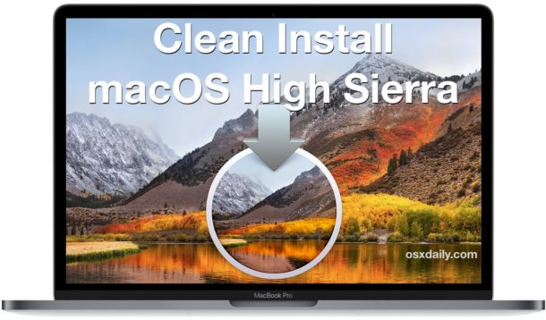 Clean install macOS High Sierra