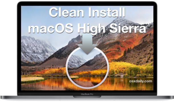 Clean install macOS High Sierra