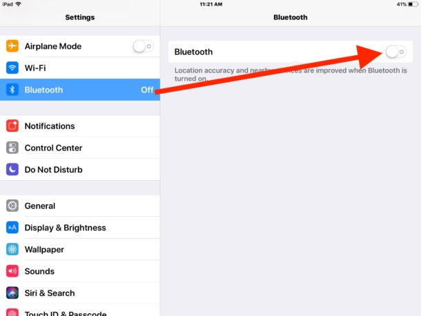How to disable Bluetooth in iOS 11
