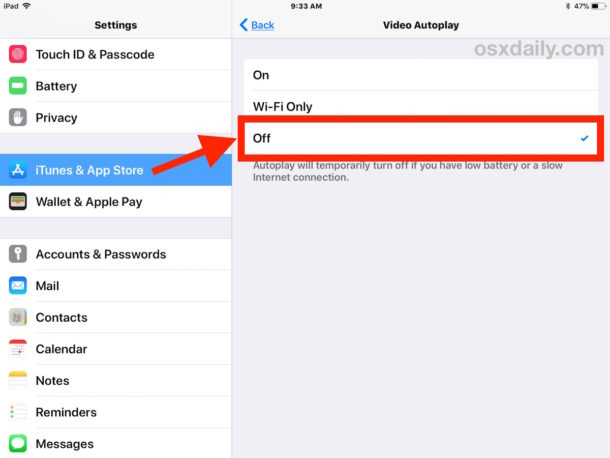 Disable video autoplaying in iOS App Store