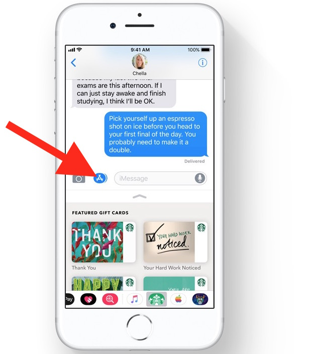 Hide and show app icon drawer in Messages for iOS 11