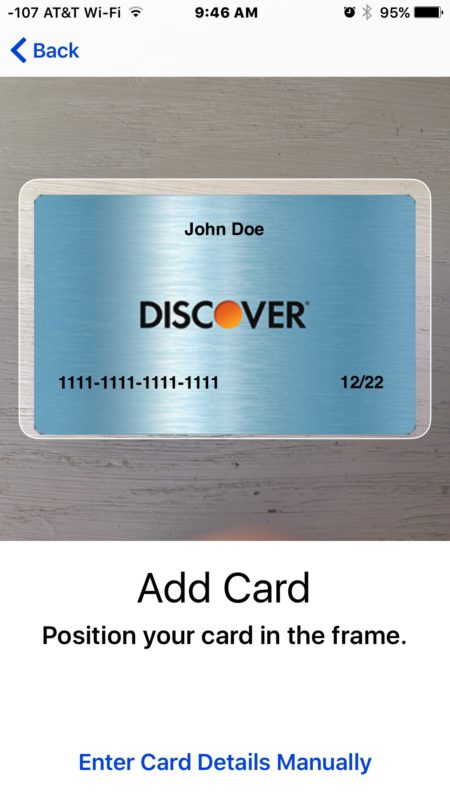 Add new cards to Apple Pay