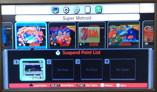 How to save a game from anywhere on SNES Classic