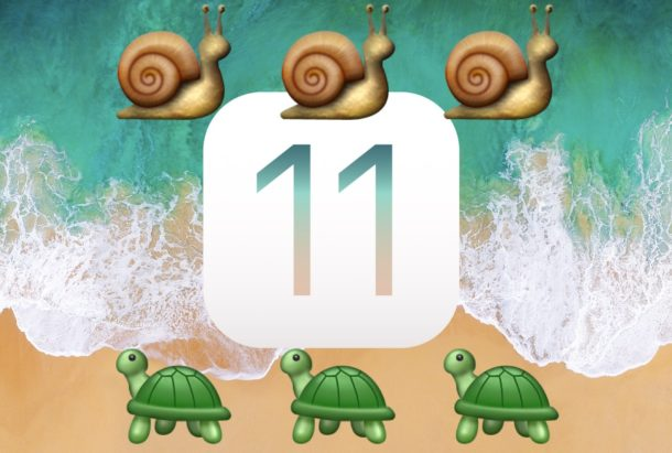 Speed up iOS 11 if it feels slow